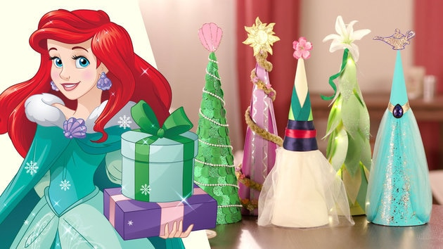 Disney Princess Holiday Trees | Disney DIY by Disney Family