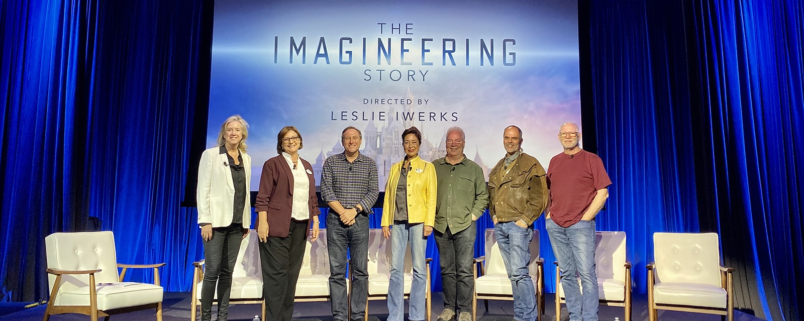 Director Leslie Iwerks and featured Imagineers