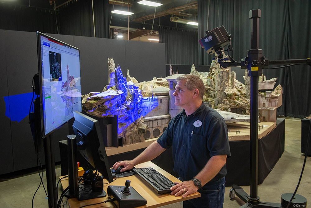 Imagineer working on Galaxy's Edge