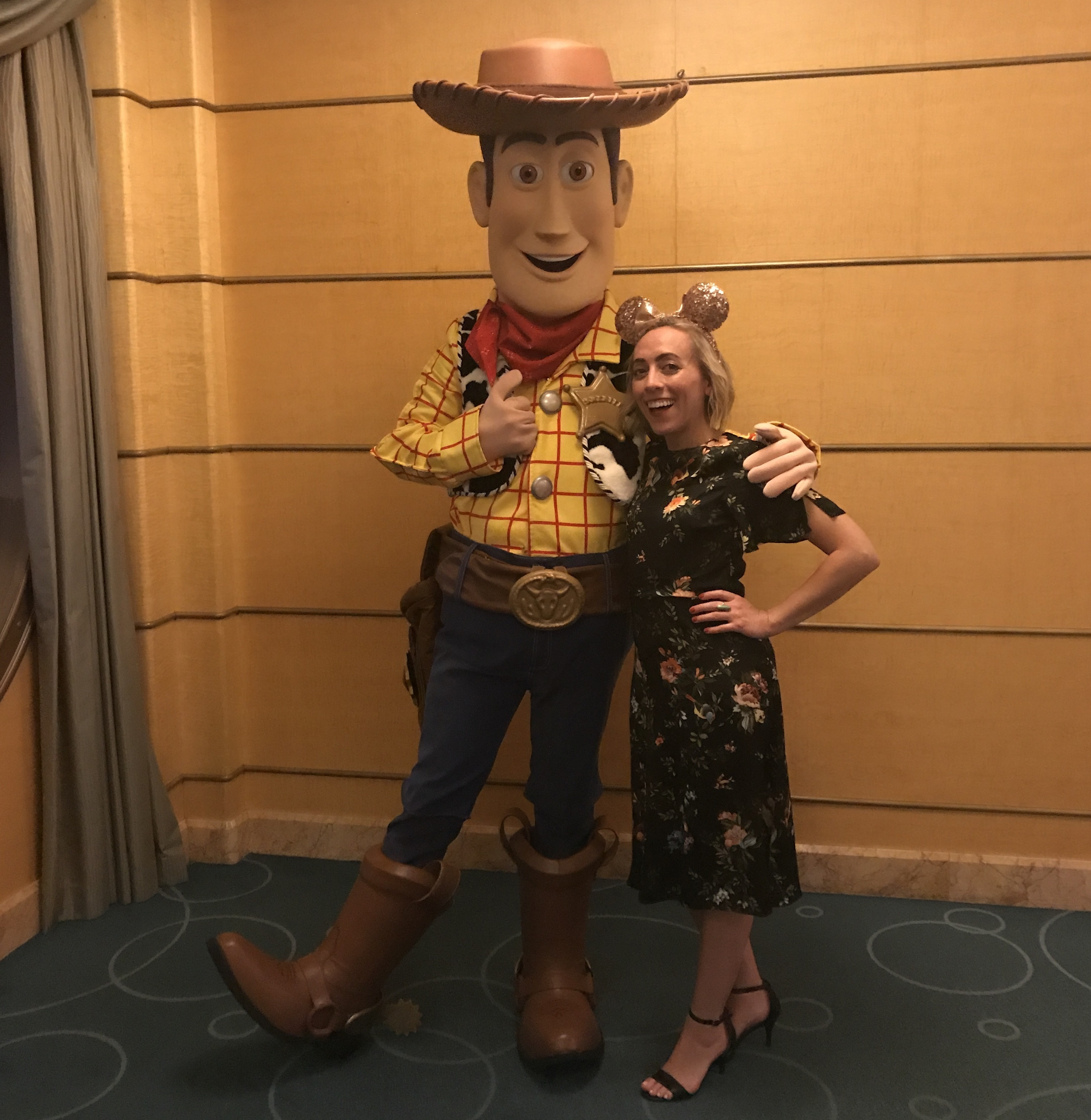 Woody and Oh My Disney Host Michelle Lema on the Disney Wonder