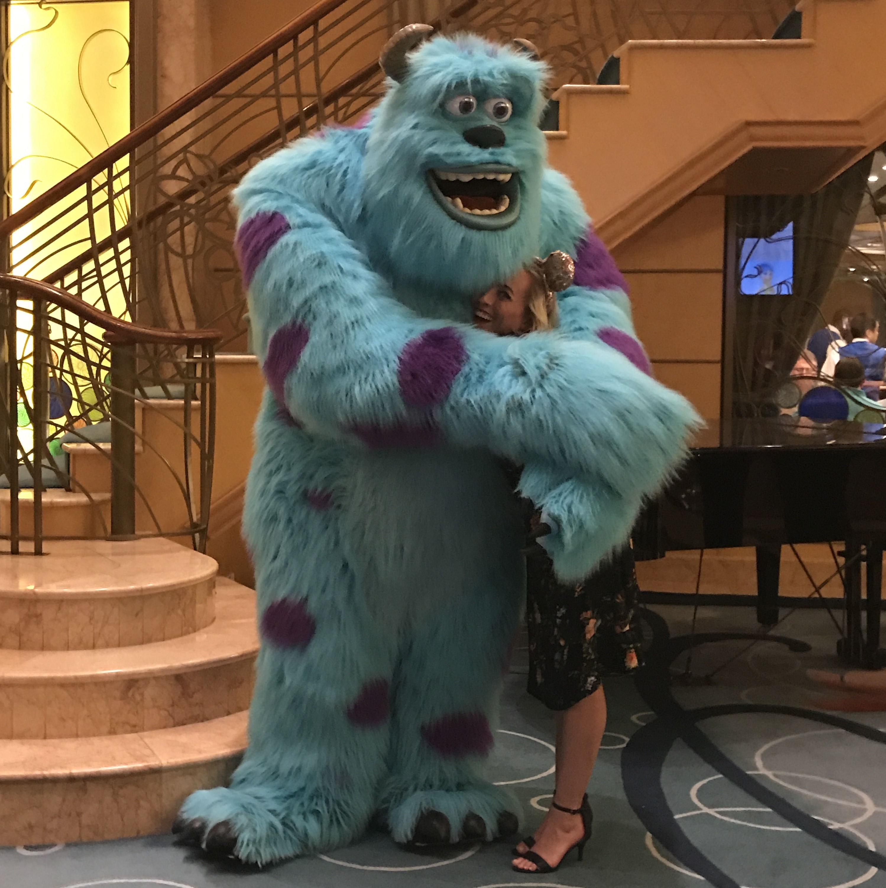 Sulley and Oh My Disney Host Michelle Lema on the Disney Wonder