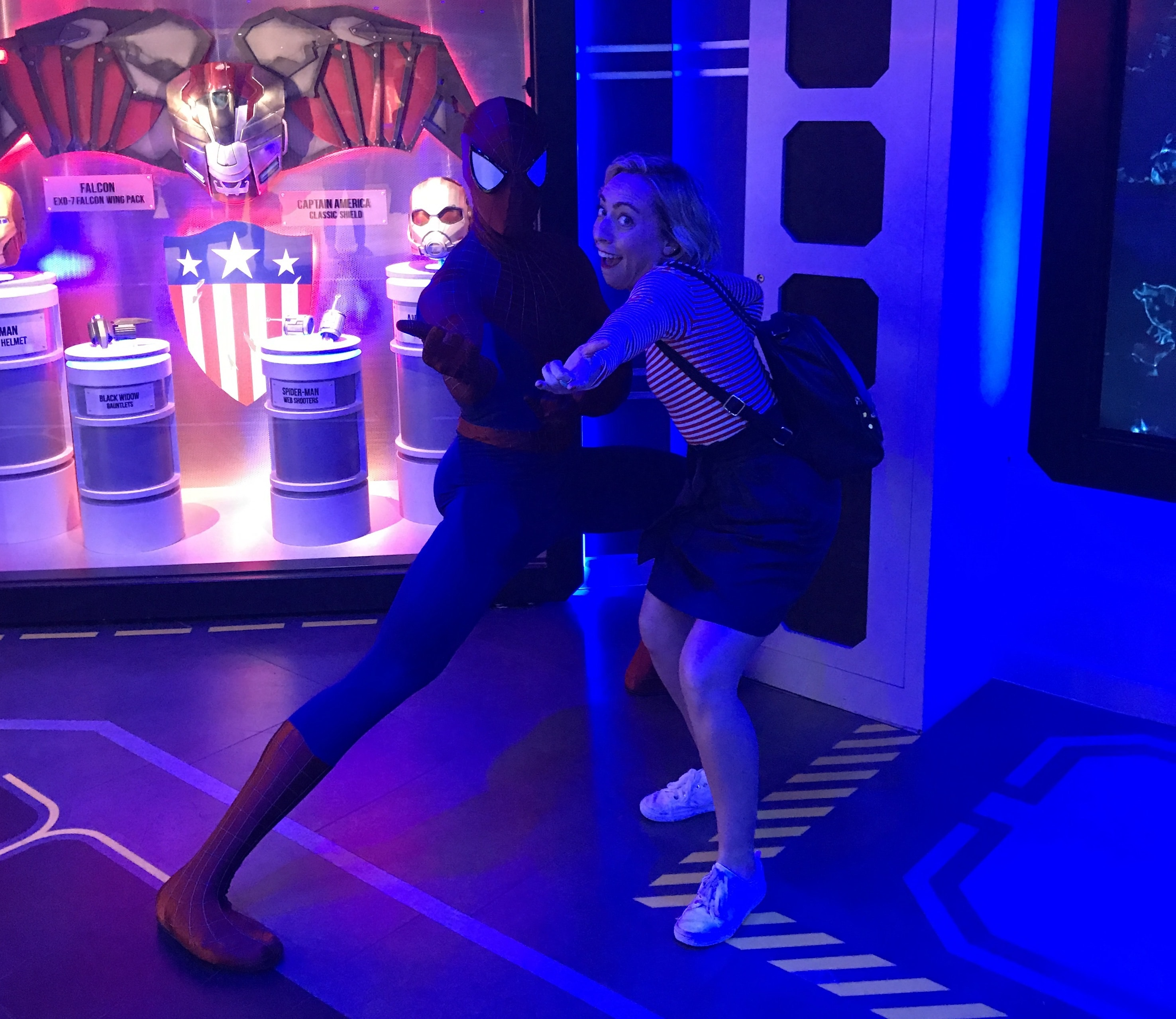 Spider-Man and Oh My Disney Host Michelle Lema on the Disney Wonder