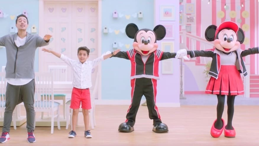 Stay Fit with Mickey and Minnie | Wave Step