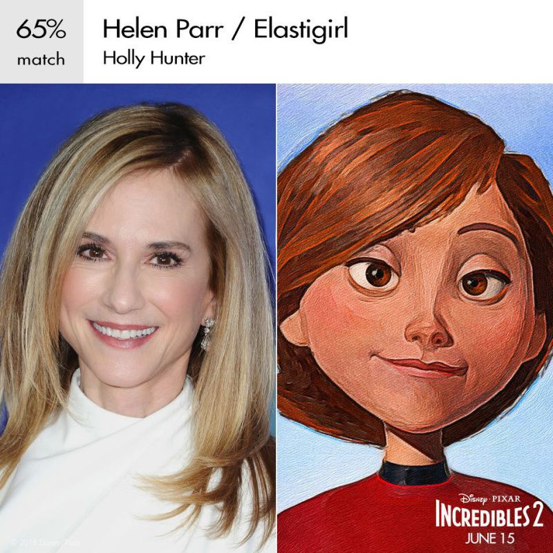 holly hunter as Elastigirl