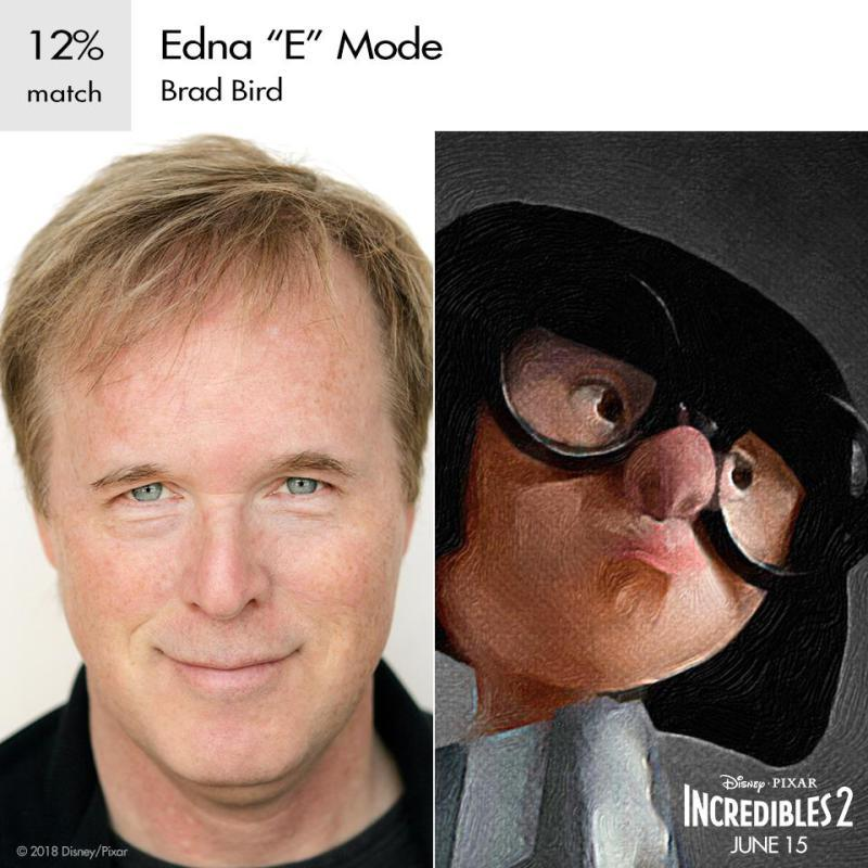 brad bird as edna mode