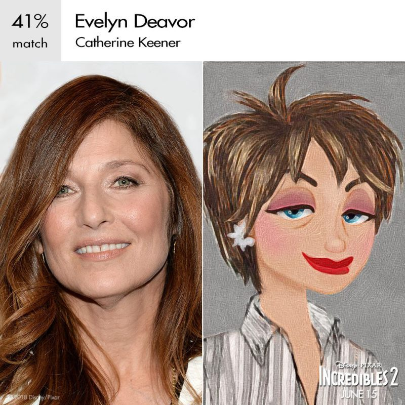 Catherine keener as Evelyn deavor