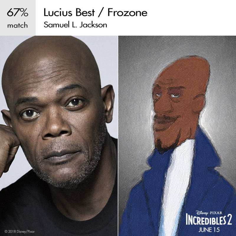Samuel l. Jackson as Frozone