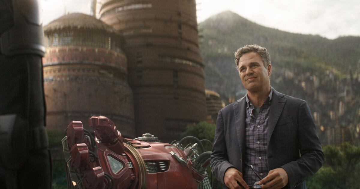 Bruce Banner in Wakanda in a scene from Avengers: Infinity War.