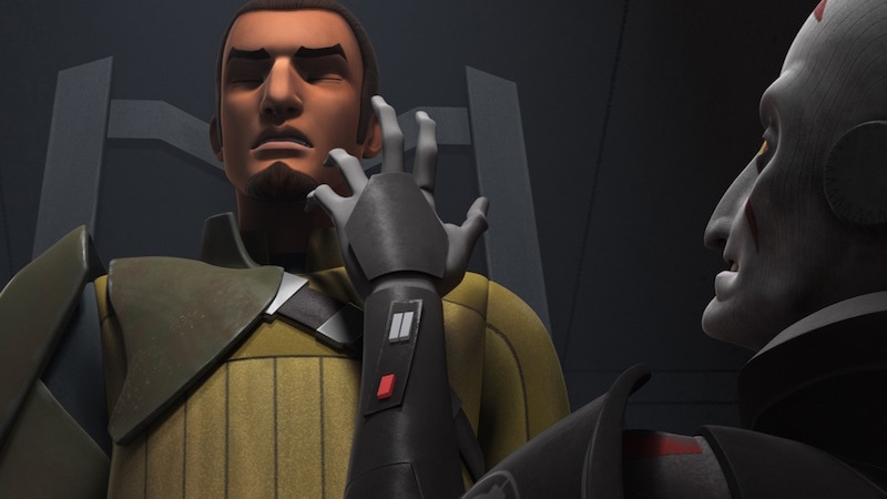 The Inquisitor interrogating Kanan Jarrus