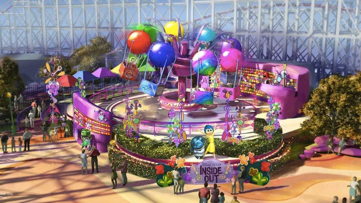 Inside Out Emotional Whirlwind Attraction Concept Art