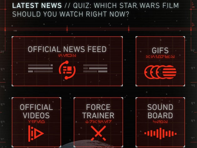 Dark side dashboard (iOS shown) .