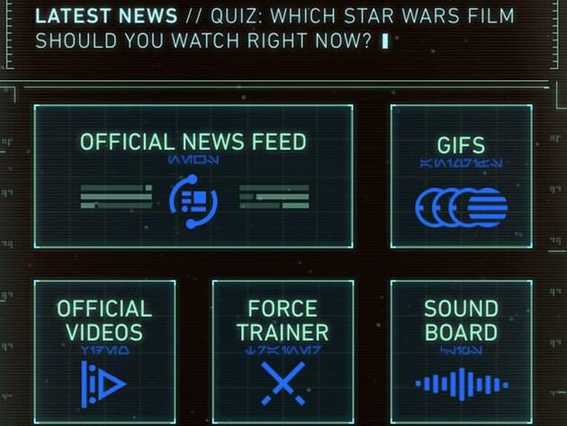 Droid dashboard (iOS shown).