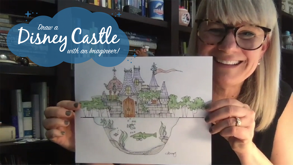 Learn to Draw a Disney Castle