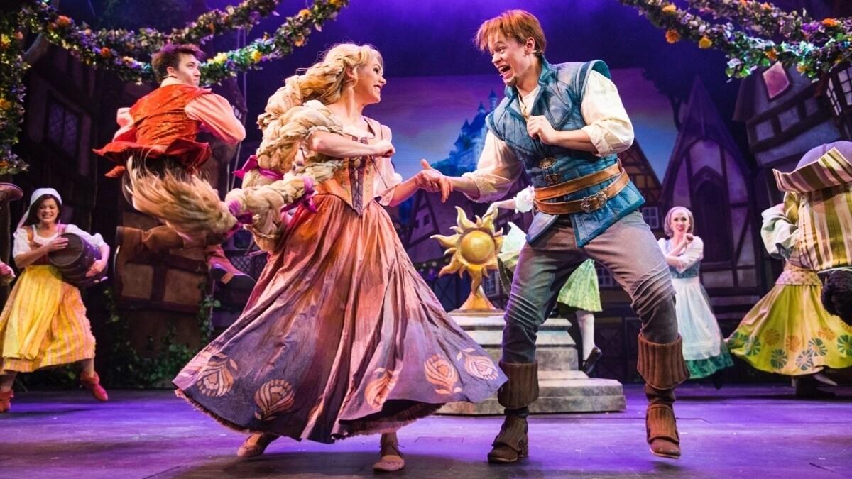 Musical spettacolari con Rapunzel sulle crociere Disney