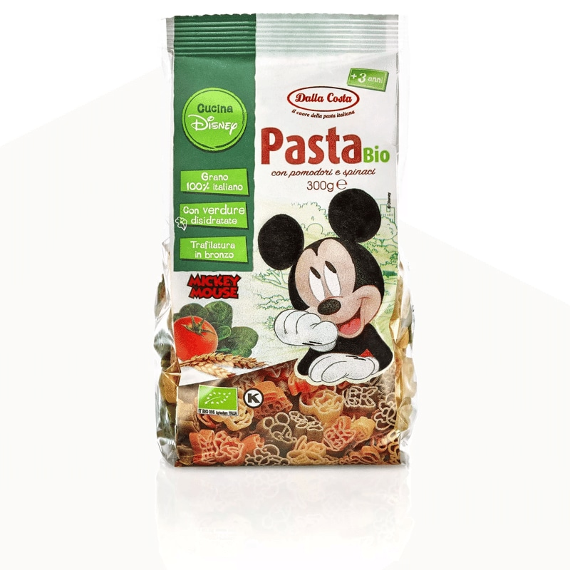 Pasta tricolore bio Dalla Costa Mickey Mouse
