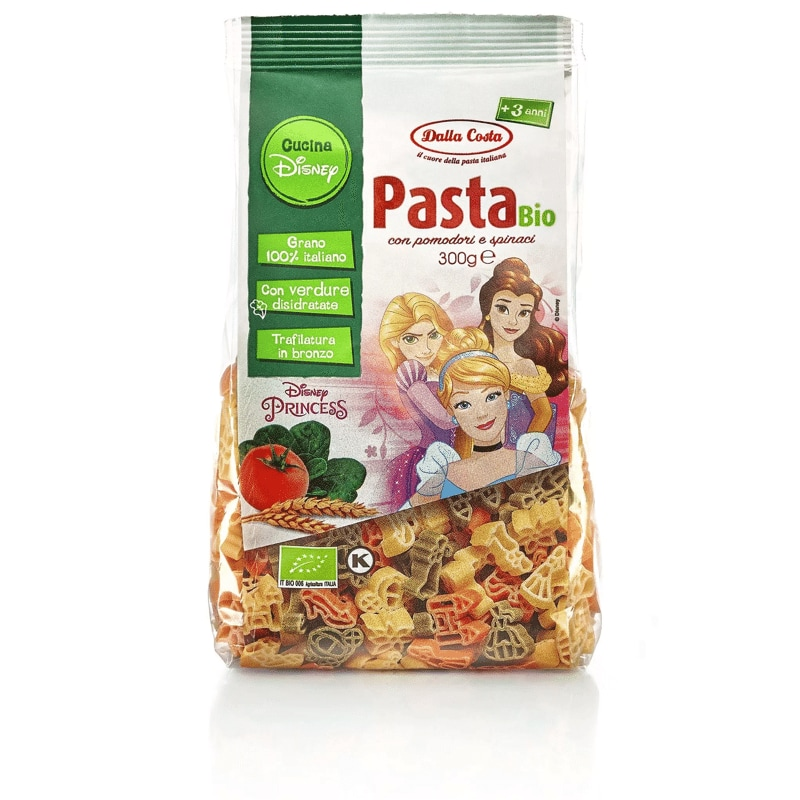 Pasta tricolore bio Dalla Costa Disney Princess