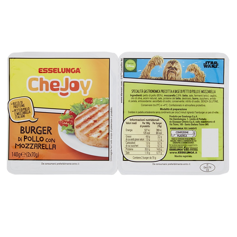 Esselunga CheJoy, Burger di pollo con mozzarella