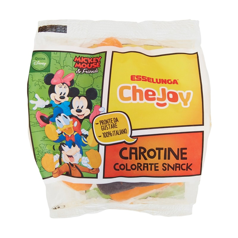 Esselunga CheJoy, carotine colorate snack