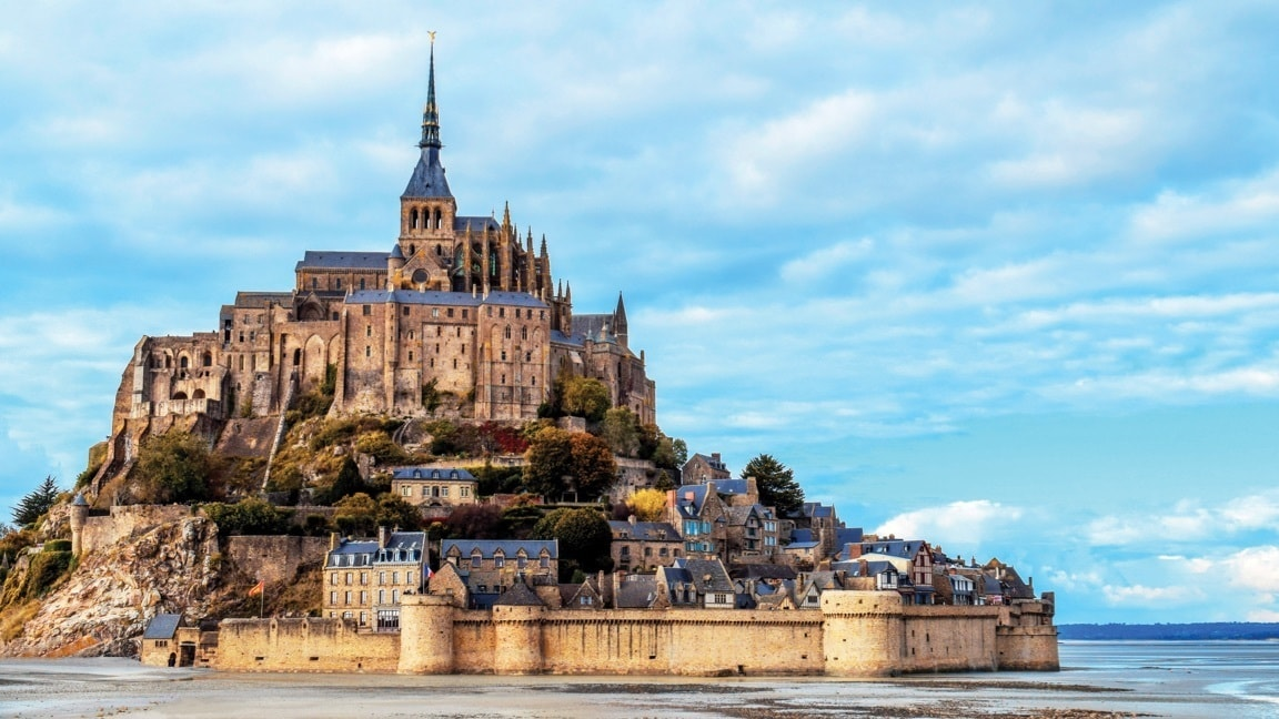 Mont Saint-Michel in Normandia