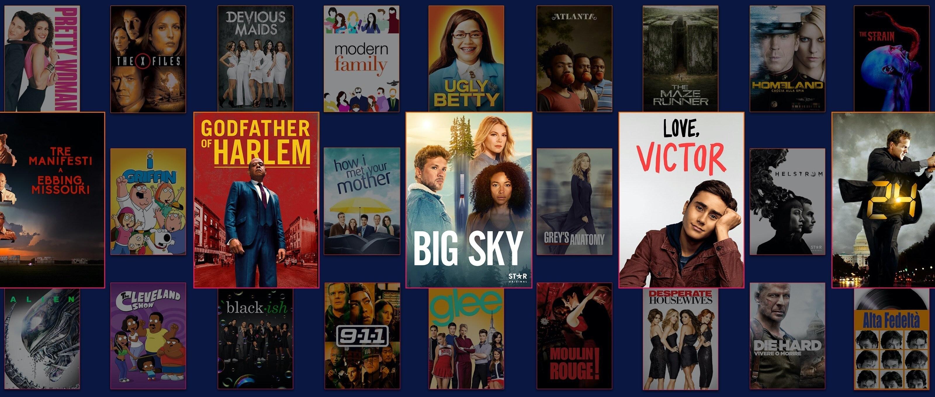 Loghi e artwork di un'ampia selezione di titoli Star in arrivo su Disney+.
