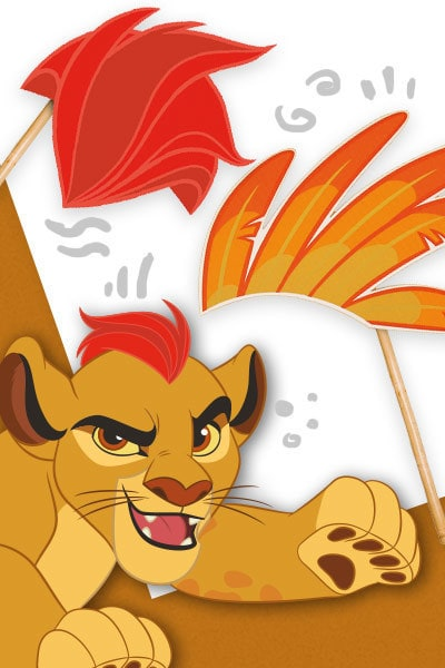 Selfie a tema The Lion Guard