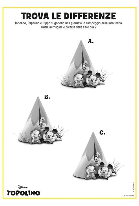 Foglio stampabile con gioco trova le differenze tra le tende