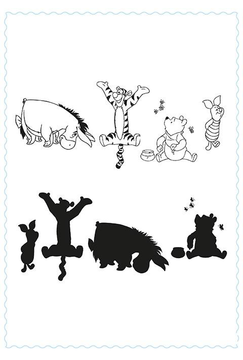 Friendship - Gioco delle ombre di Pooh- Activity Sheet PDF