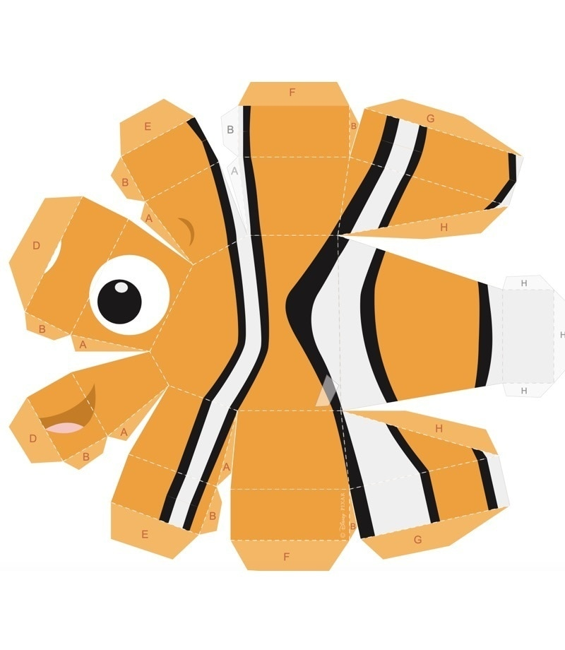 Nemo  - stampabile 3d  Activity Sheet PDF