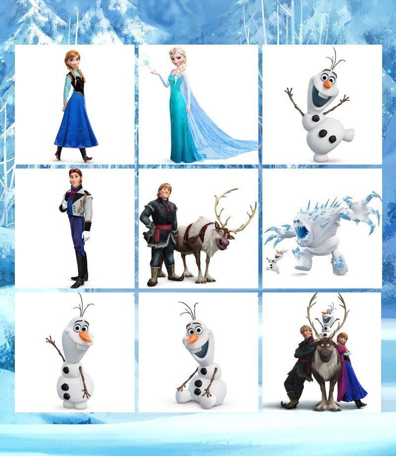 Carte memory con i personaggi di Frozen