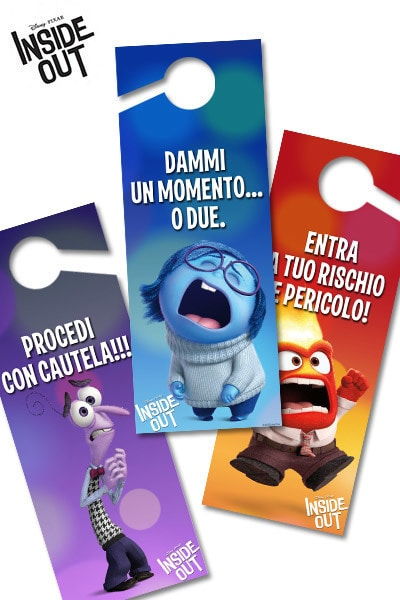 Cartelli per la porta di Inside Out