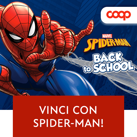 Concorso spiderman Coop