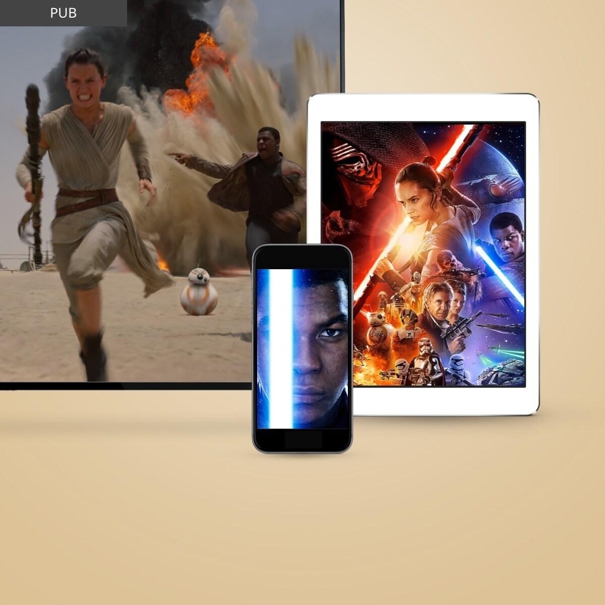 IT - Star Wars The Last Jedi - Onward Journey - Digital Downloads - Flex Grid Object - Square