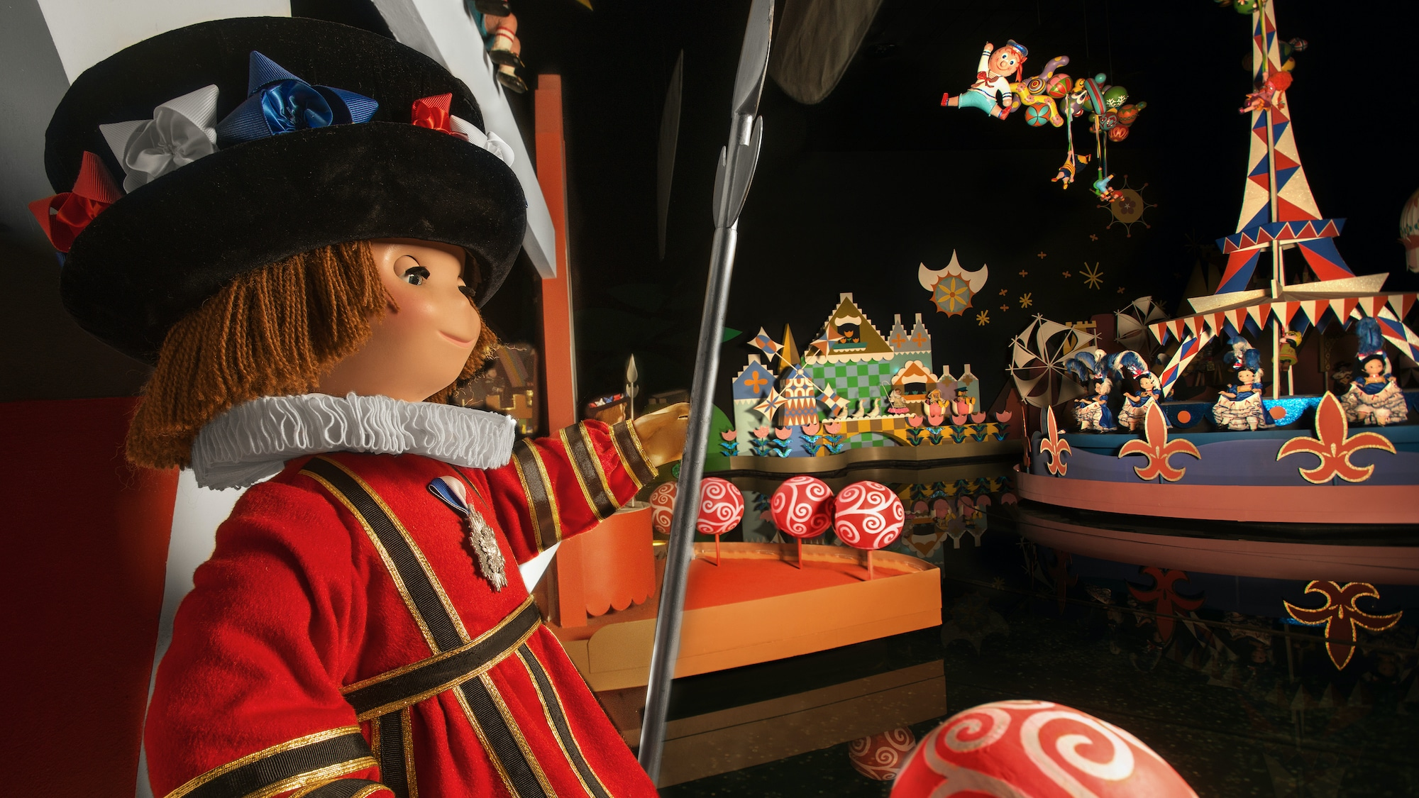 """Image of a royal guard from the """"it's a small world"""" ride."""