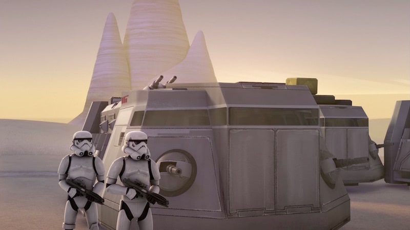 Imperial Stormtroopers and ITT's on Lothal
