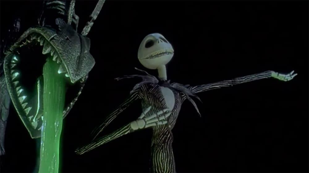 "Jack Skellington posing in the film ""The Nightmare Before Christmas"""