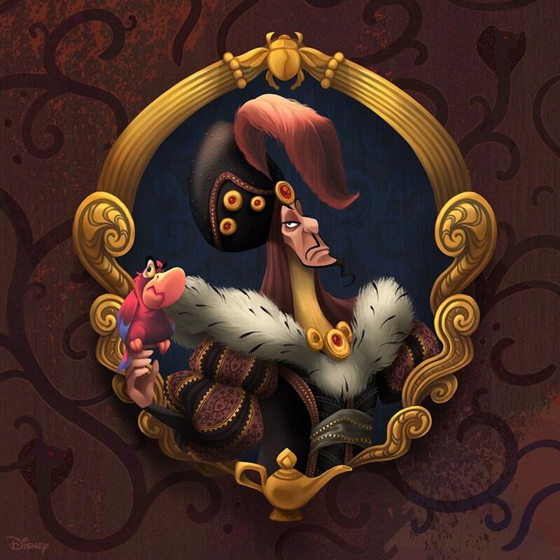Portrait renaissance-inspired painting of Jafar