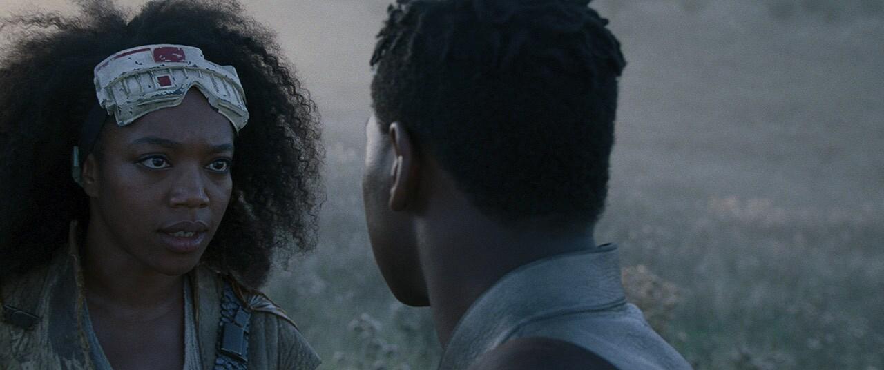 Finn and Jannah talking