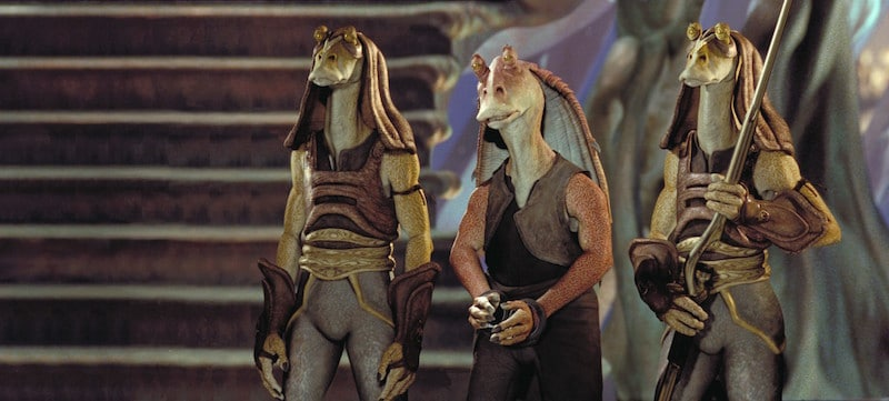 Jar Jar Binks in Gungan custody