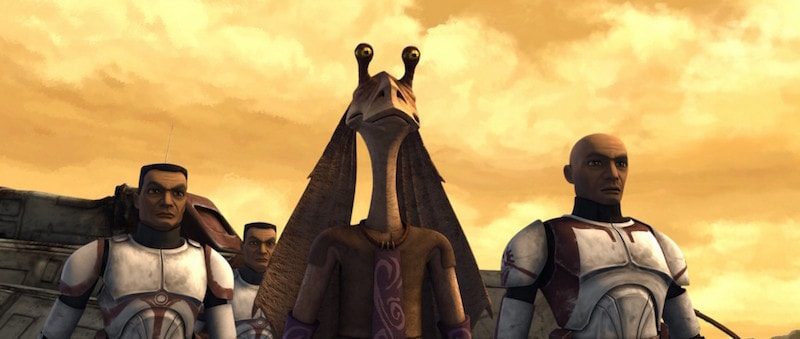 Jar Jar Binks during The Clone Wars