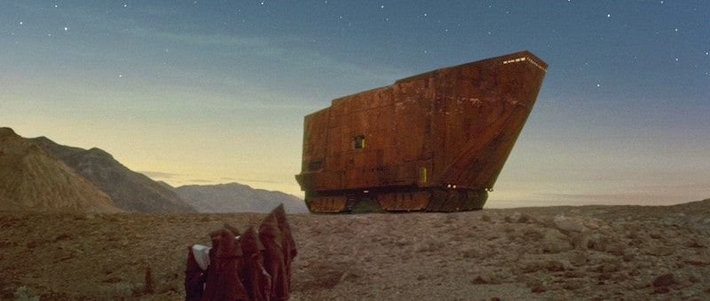 Jawas and the Sandcrawler on Tatooine