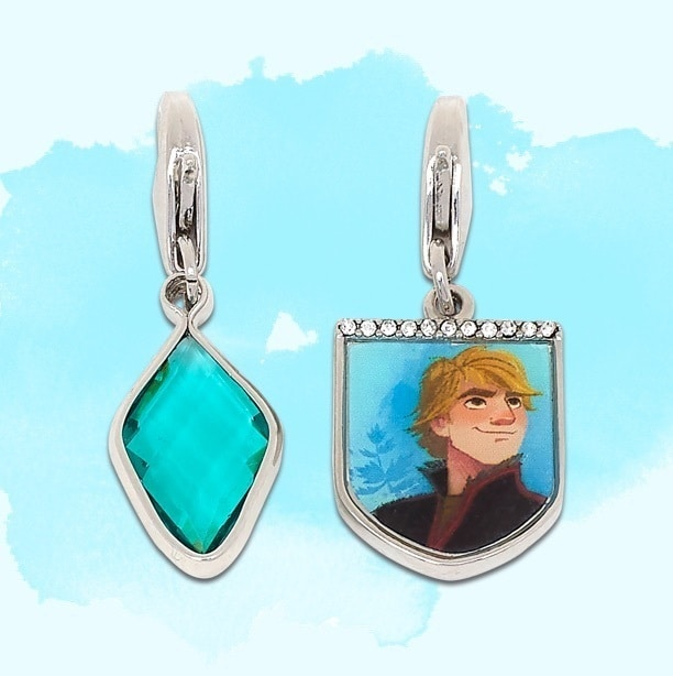 Kristoff inspired charm and turquoise diamond charm