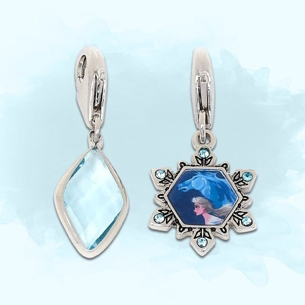 Elsa and the Nokk inspired charm and light blue diamond charm