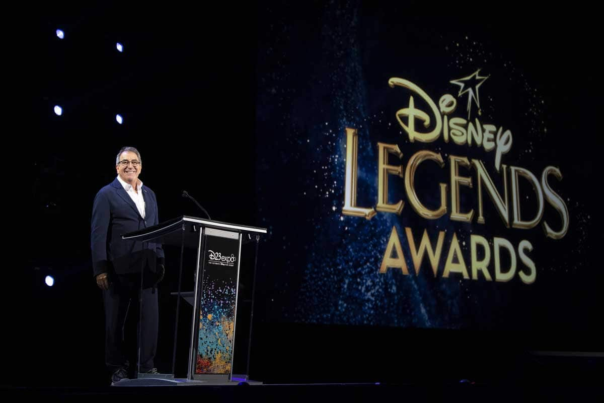 Kenny Ortega at Disney Legends Awards Podium