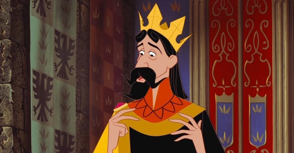 "King Stefan from the animated movie ""Sleeping Beauty"""