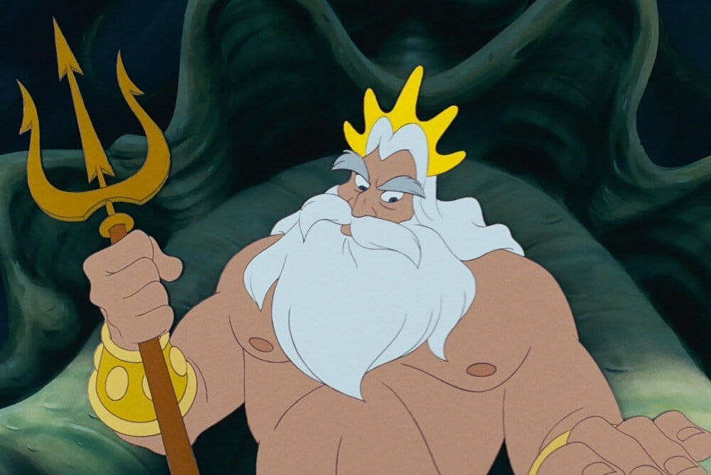 """King Triton from the animated movie """"The Little Mermaid"""""""