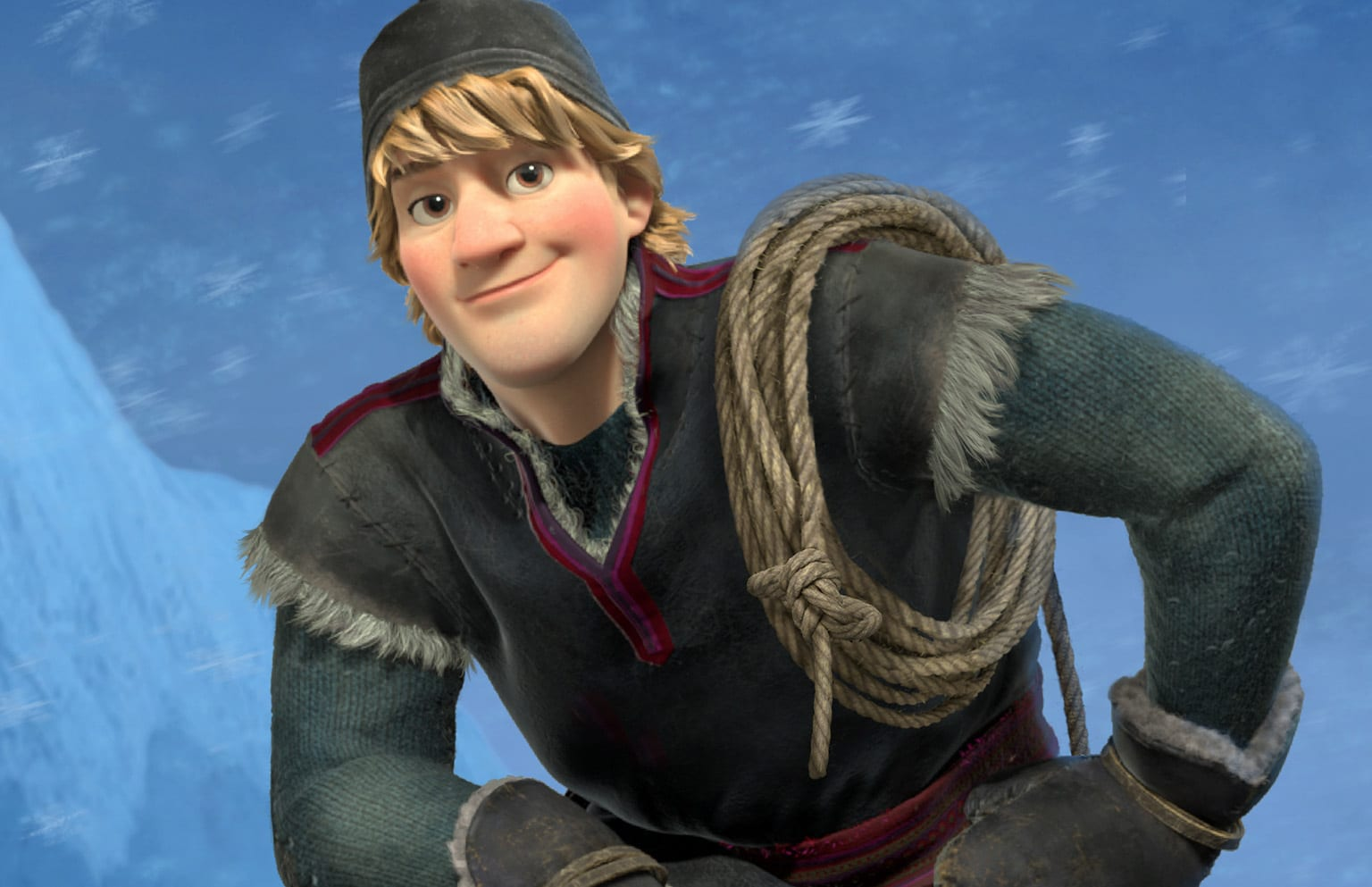 kristoff is a true outdoorsman he lives high up in the mountains where he harvests