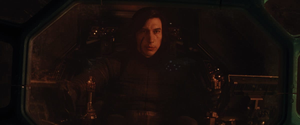 Kylo Ren piloting his TIE Silencer