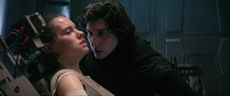 Kylo Ren interrogating Rey