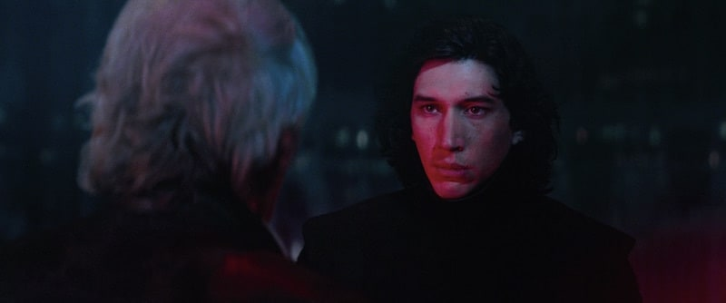 Kylo Ren confronting Han Solo on Starkiller Base