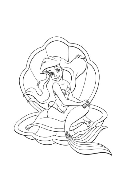 Coloriages ariel disney coloriages fr - Coloriages sirenes ...